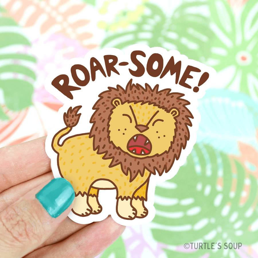 Roar-Some Lion Vinyl Sticker