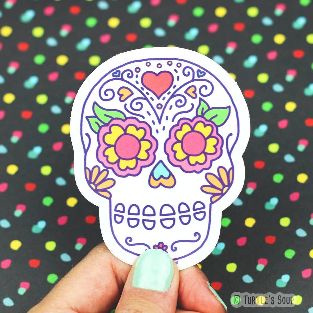 Sugar Skull Vinyl Sticker