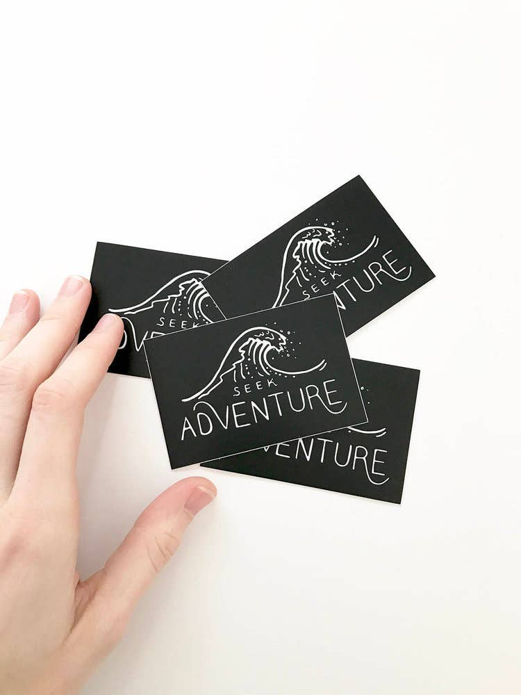 Seek Adventure Ocean Wave Vinyl Sticker