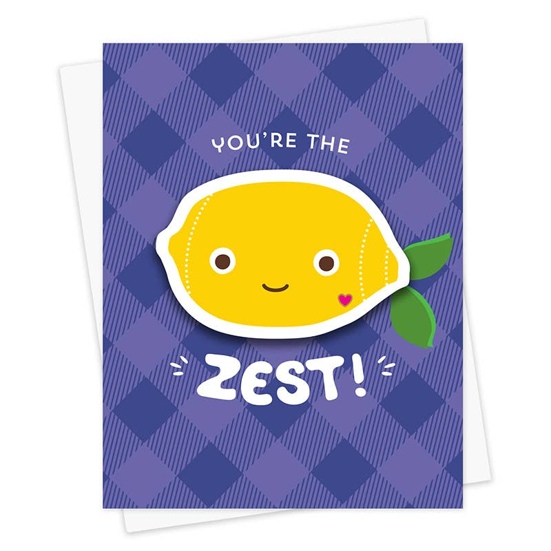 Lemon Zest Friendship Sticker Card