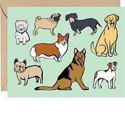 Dog Breeds Blank Card