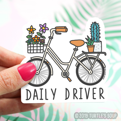 Daily Driver Bike Vinyl Sticker