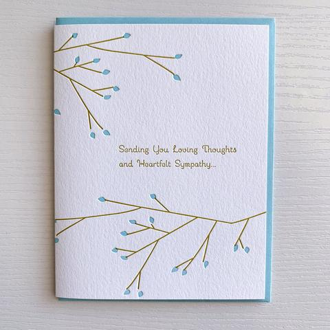 Sending Loving Thoughts Branch Sympathy Card