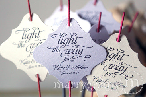 Light the Way Wedding Sparkler Send Off Tags
