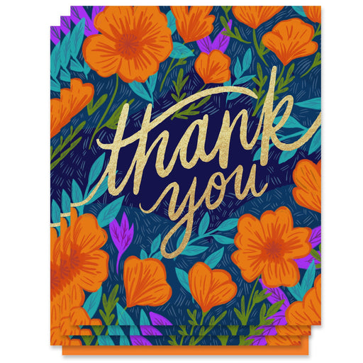 Poppies Thank You Card (Box of 6)