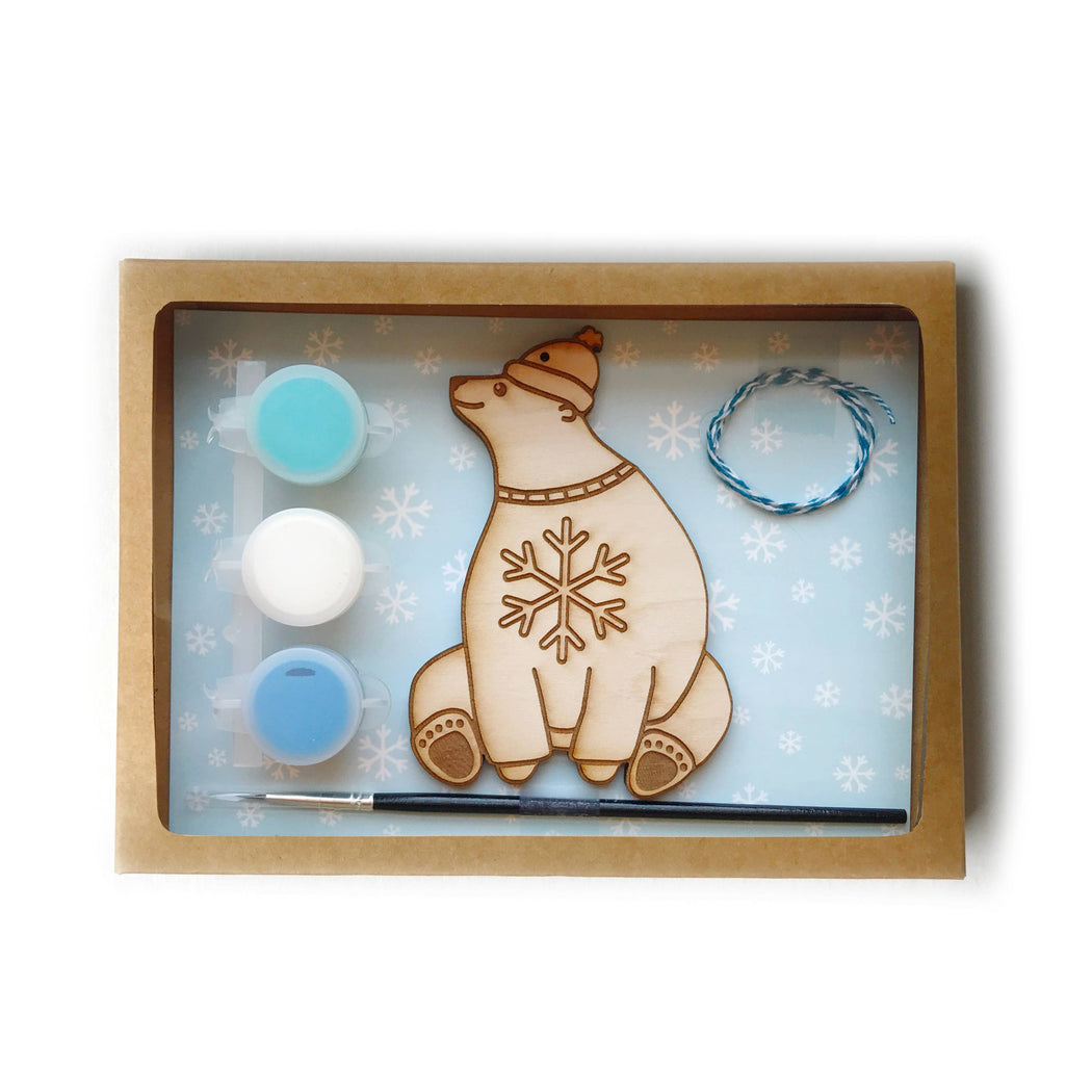 DIY paint Holiday Ornament Kit polar bear
