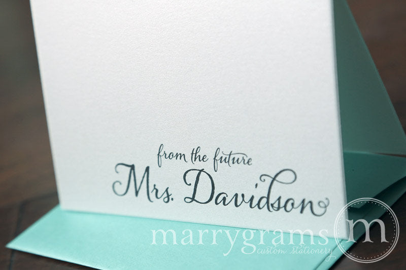From The Future Mrs. Custom Bridal Shower Thank You Card