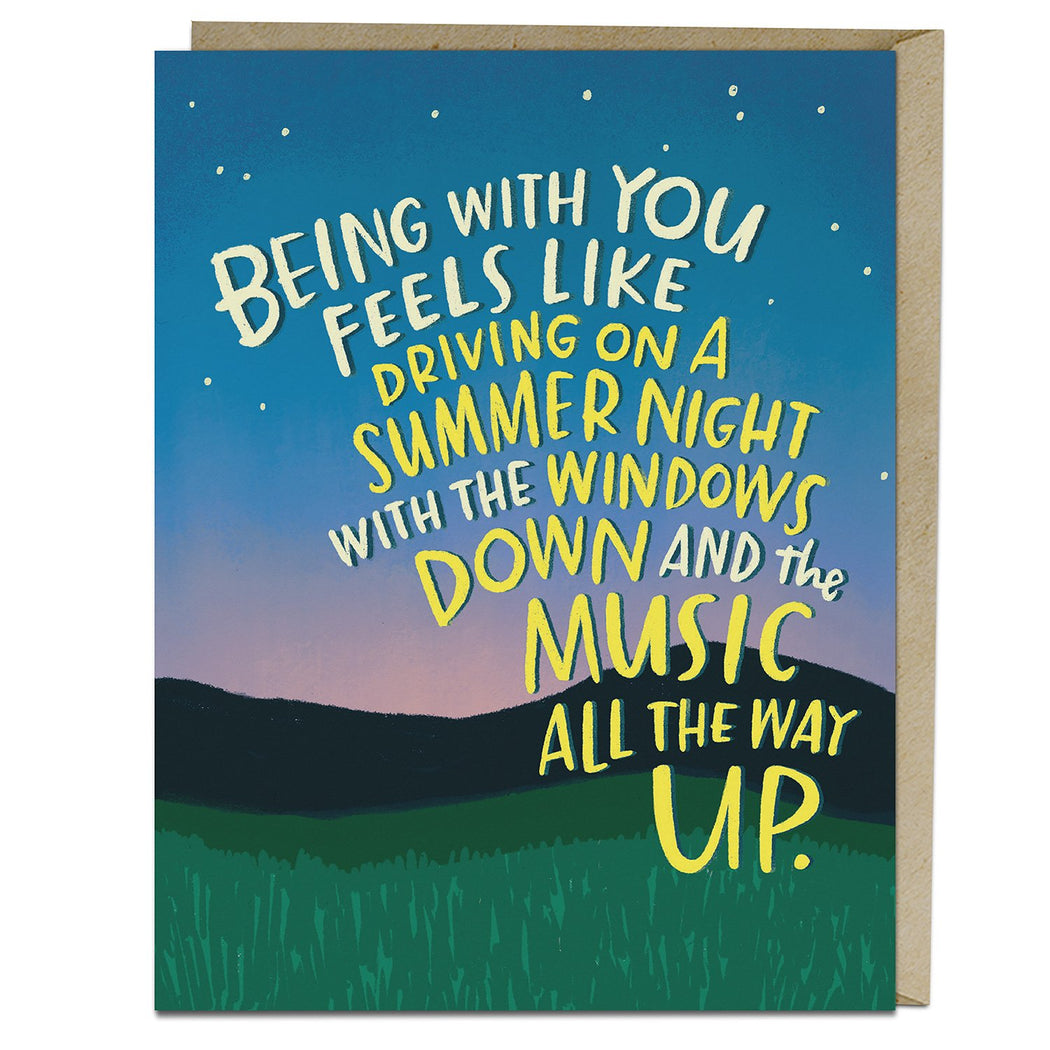 Summer Night Being with You Card