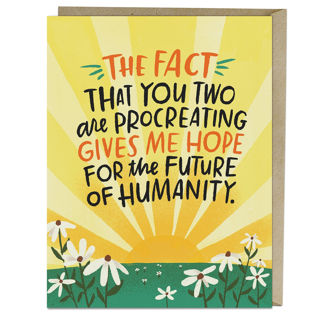 Future of Humanity Baby Card