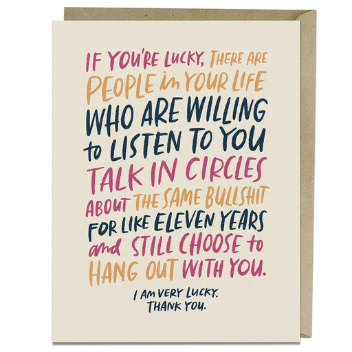Talk in Circles Lucky Card