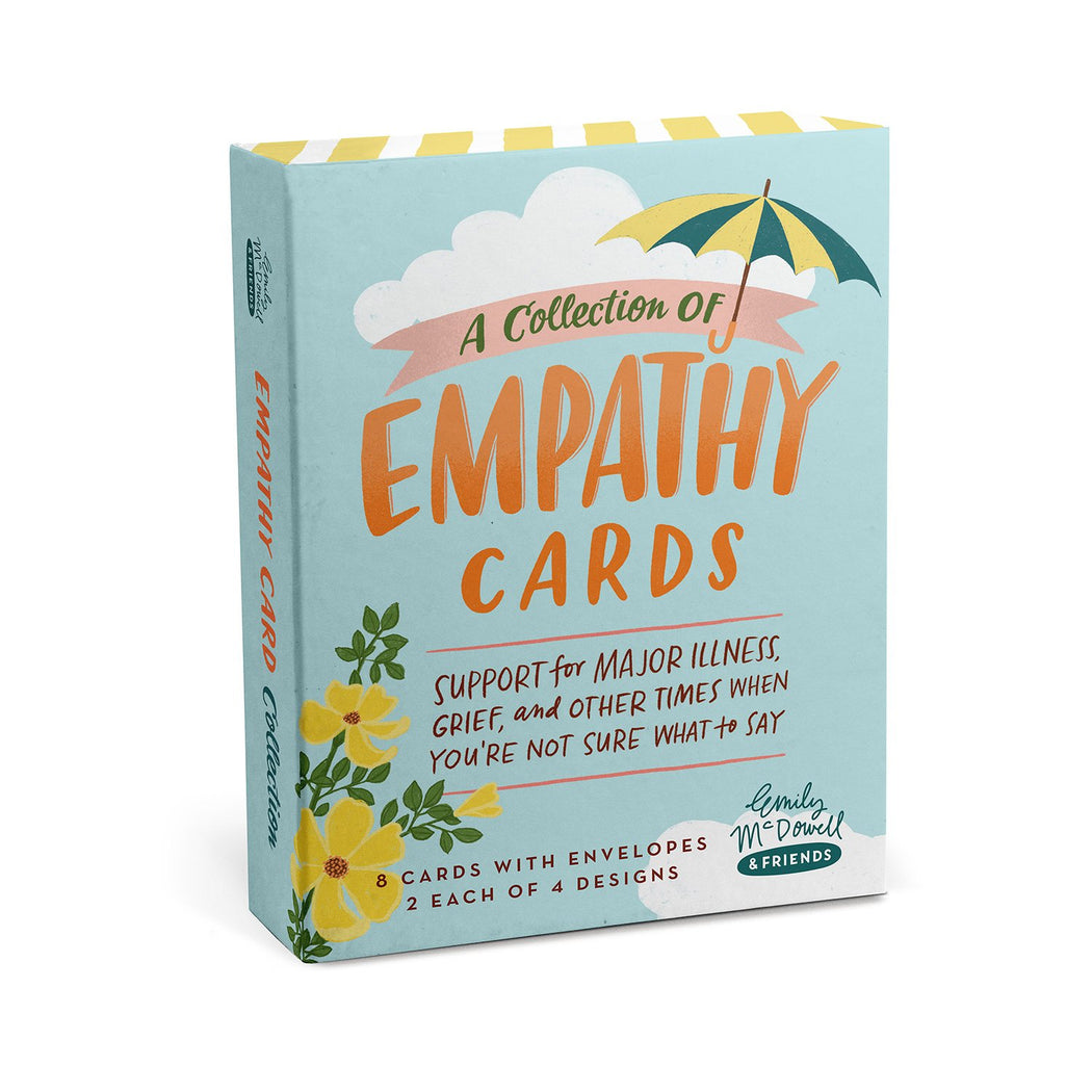 Collection of Empathy Cards, Box of 8 - support for major illness, grief, and other times when you're not sure what to say