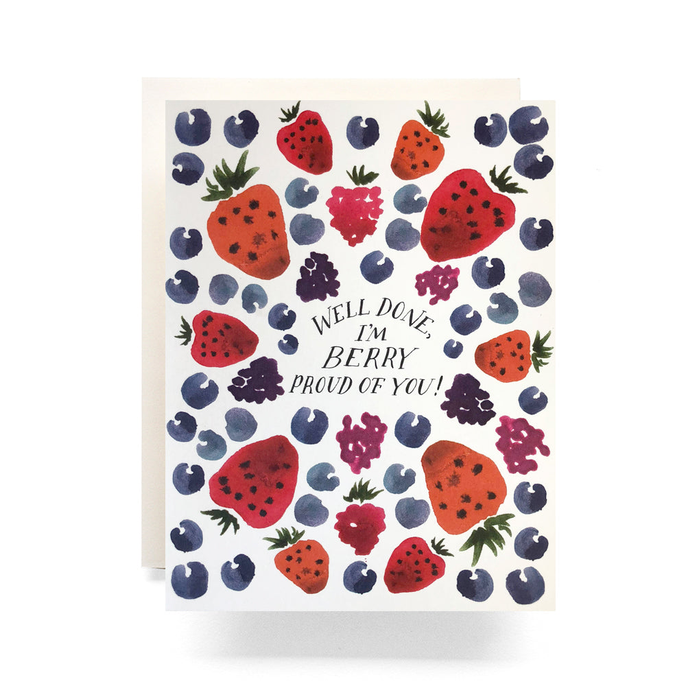 Berry Pattern Card - well done, im berry proud of you