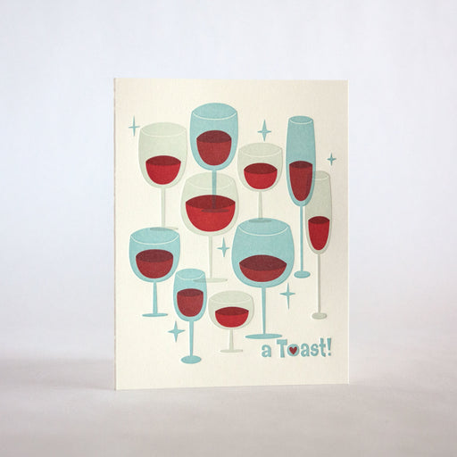 Toasting Wine Glasses Card