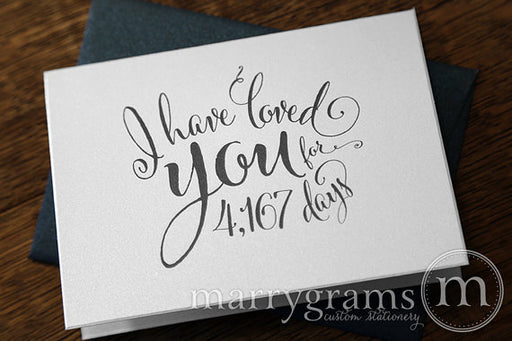 I Have Loved You For Number of Days Card Whimsical Style