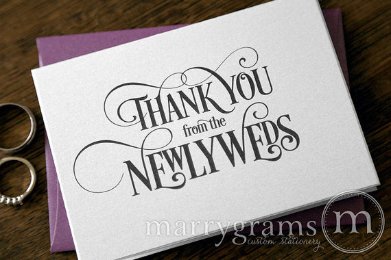 Thank You from the Newlyweds Card Enchanting Style