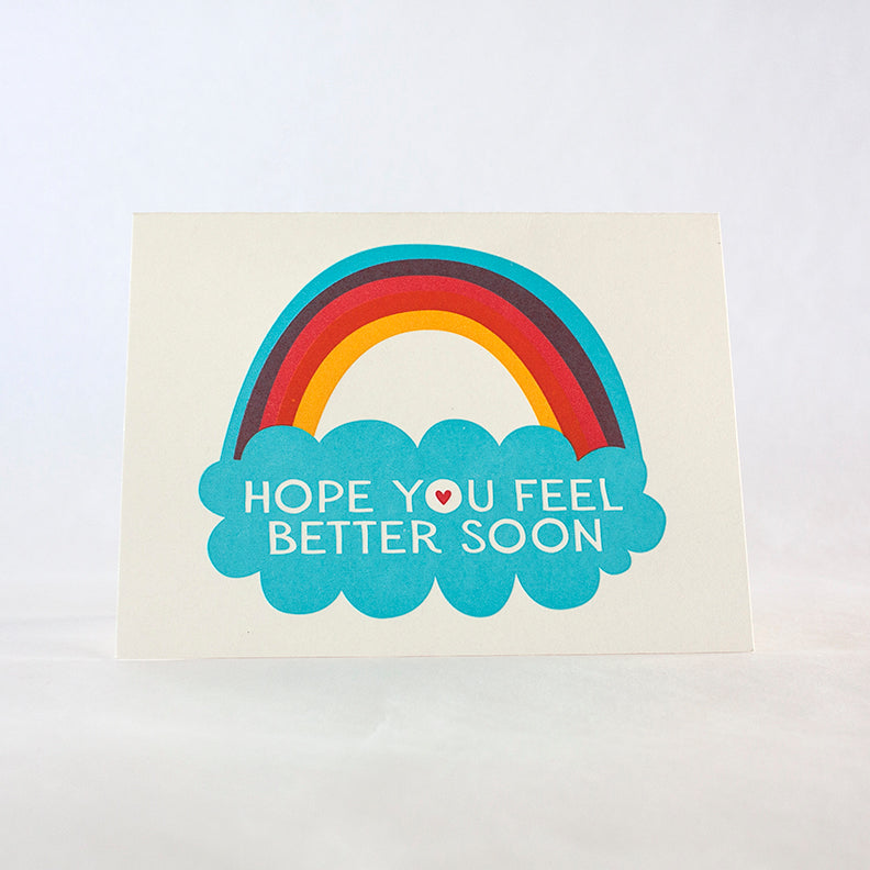 Hope You Feel Better Soon Rainbow Card