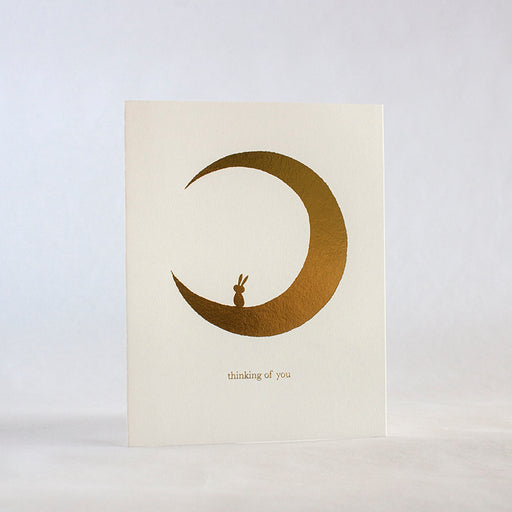 Thinking Of You Moon Bunny Sympathy Card