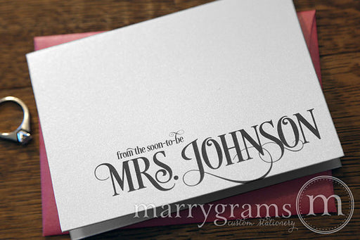 From the Soon-To-Be Mrs. Custom Thank You Card Enchanting Style