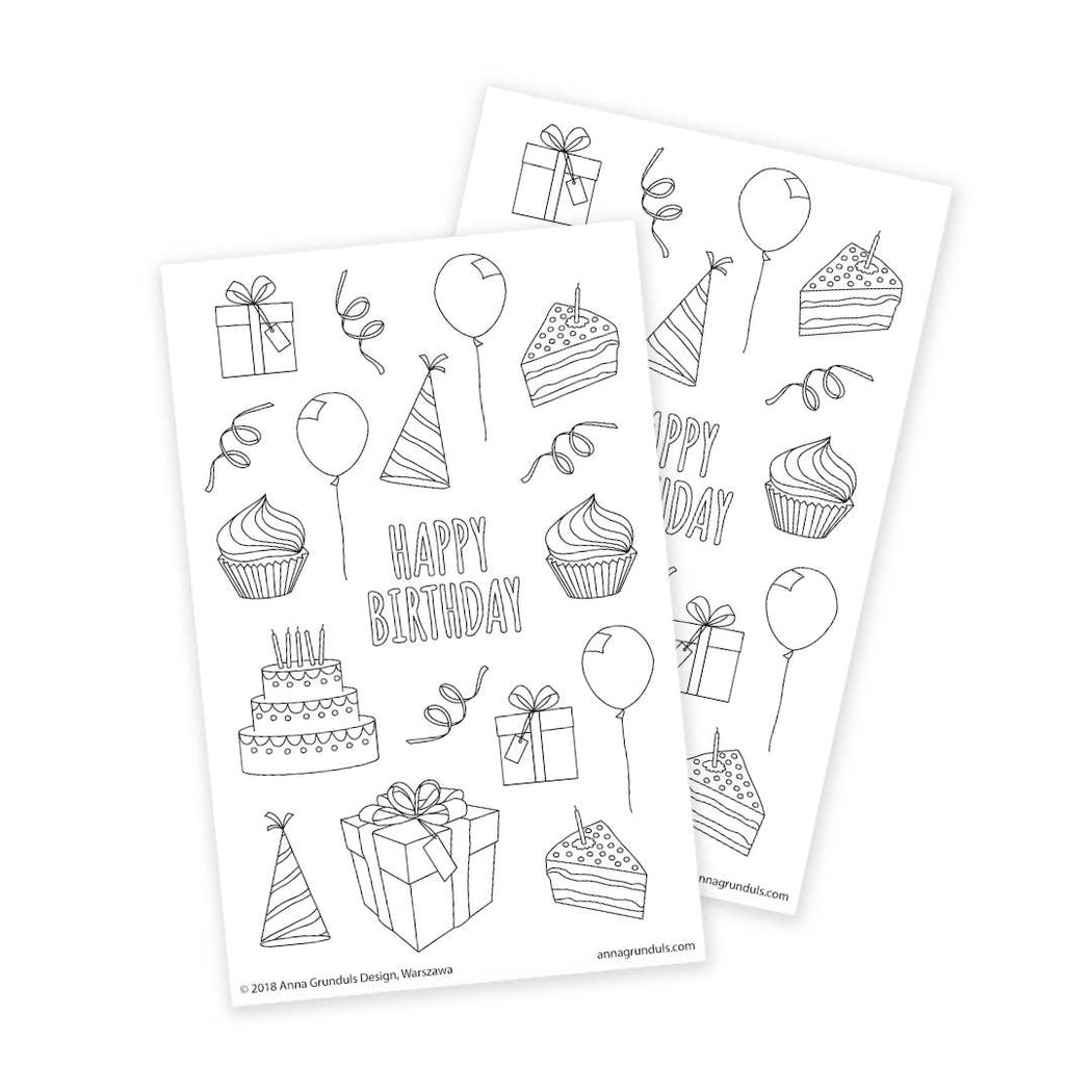 Coloring Sticker Sheets (2pk)