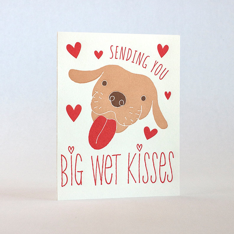 Sending You Big Wet Kisses Dog Love and friendship Card