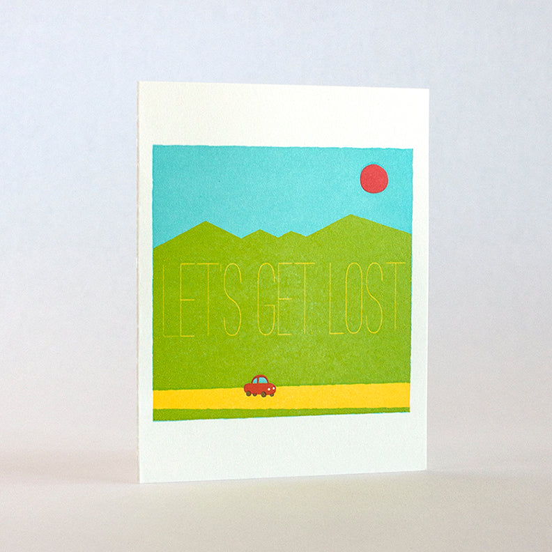 Let's Get Lost in the Mountains Card