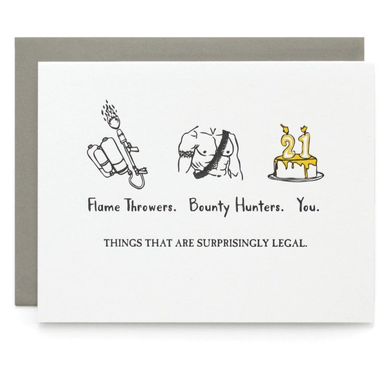 Things That are Legal Birthday Card