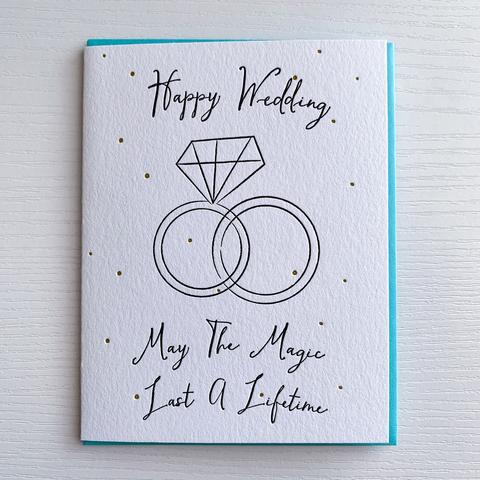 Magic Last a Lifetime Wedding Card