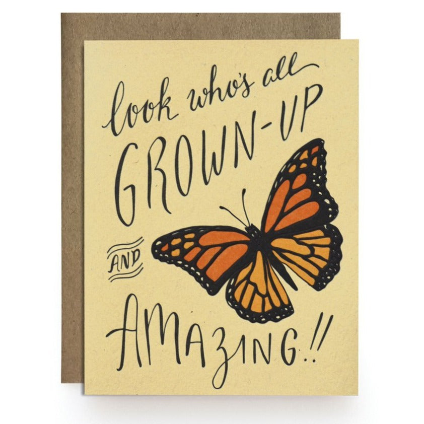 Grown Up Amazing Butterfly Birthday Card
