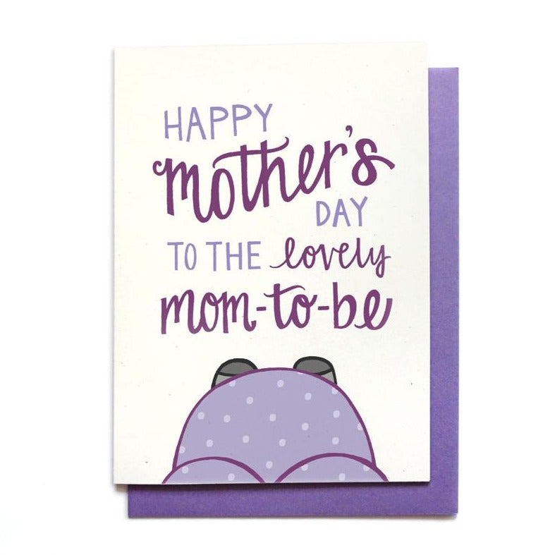 Mom-to-be Belly Mother's Day Card