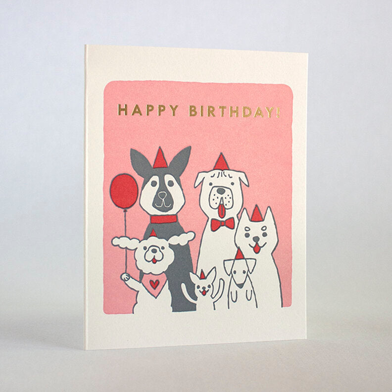 Happy Birthday Dog Party Card