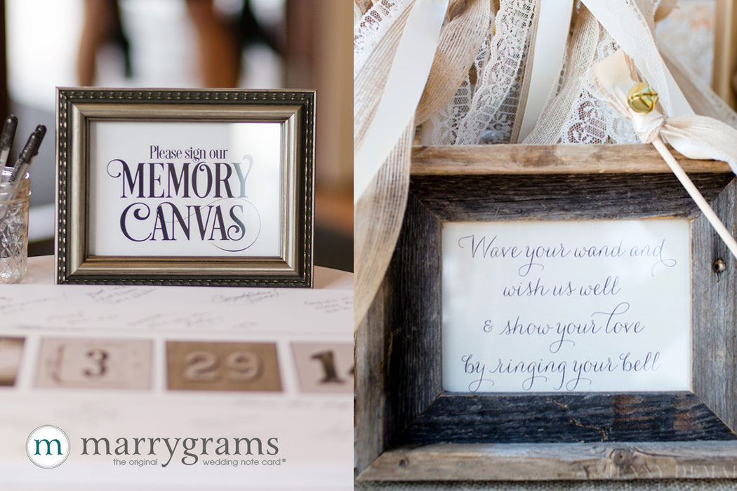 Create Custom Small Sign Wedding Memory Table