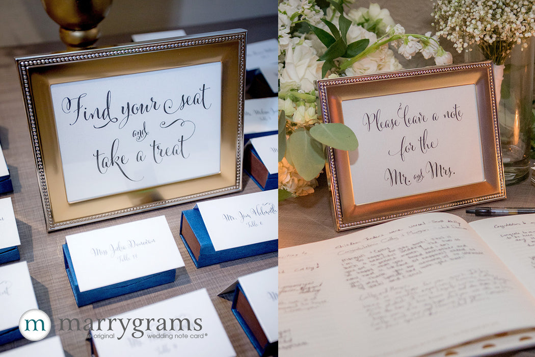 Create a Custom Small Sign Favor Table Seating Chart