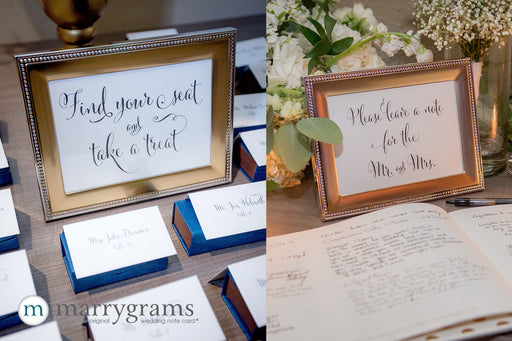 "1 Create a Custom Small 5"" x 7"" Wedding Sign"