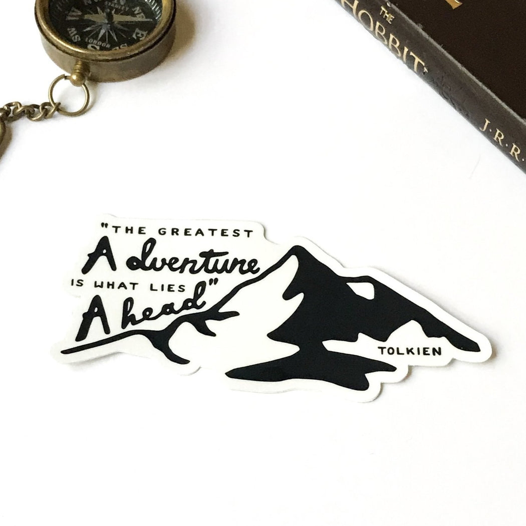 Tolkien Adventure Ahead Vinyl Sticker