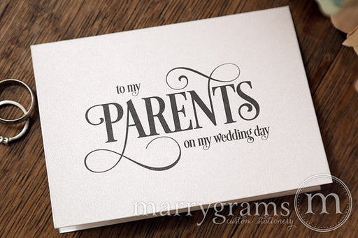 To My Family parents Wedding Day Card Enchanting Style