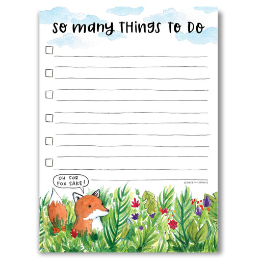 For Fox Sake Things to Do Notepad