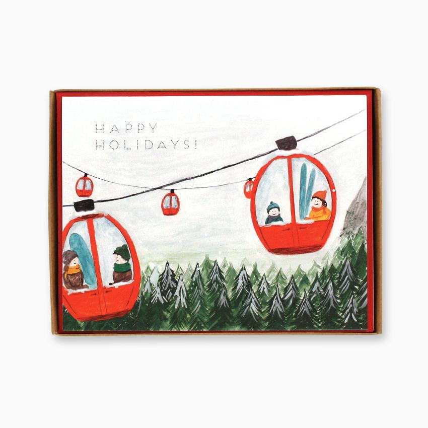 ski Gondola Christmas Cards Box of 8