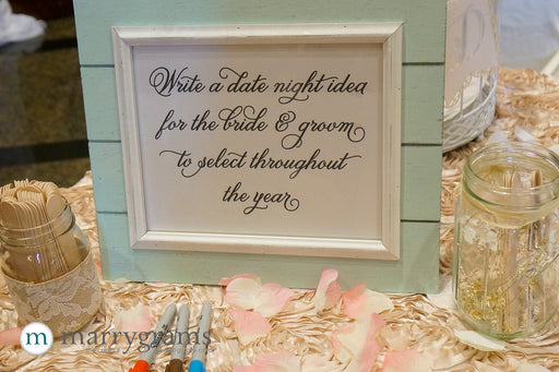 Date Night Idea Large Custom Wedding Sign