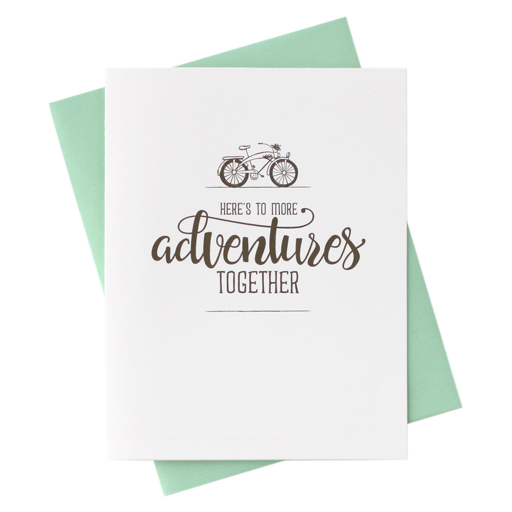 here's to more adventures together Anniversary Card, Love Note, Just Because