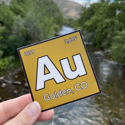 Golden Colorado Sticker AU Gold Periodic Element Vinyl Stickers