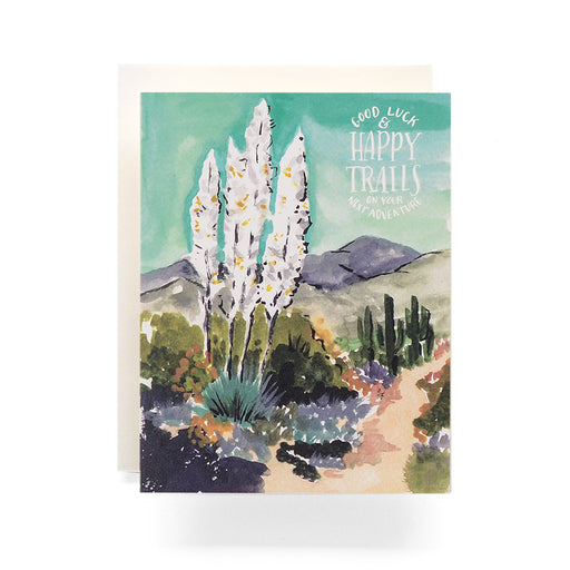 Agave Good Luck Happy Trails Adventure  Graduation Card