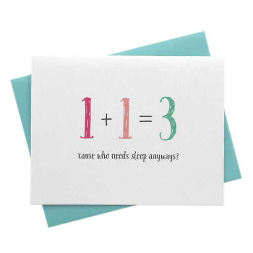 Baby Math, Funny New Parents Card