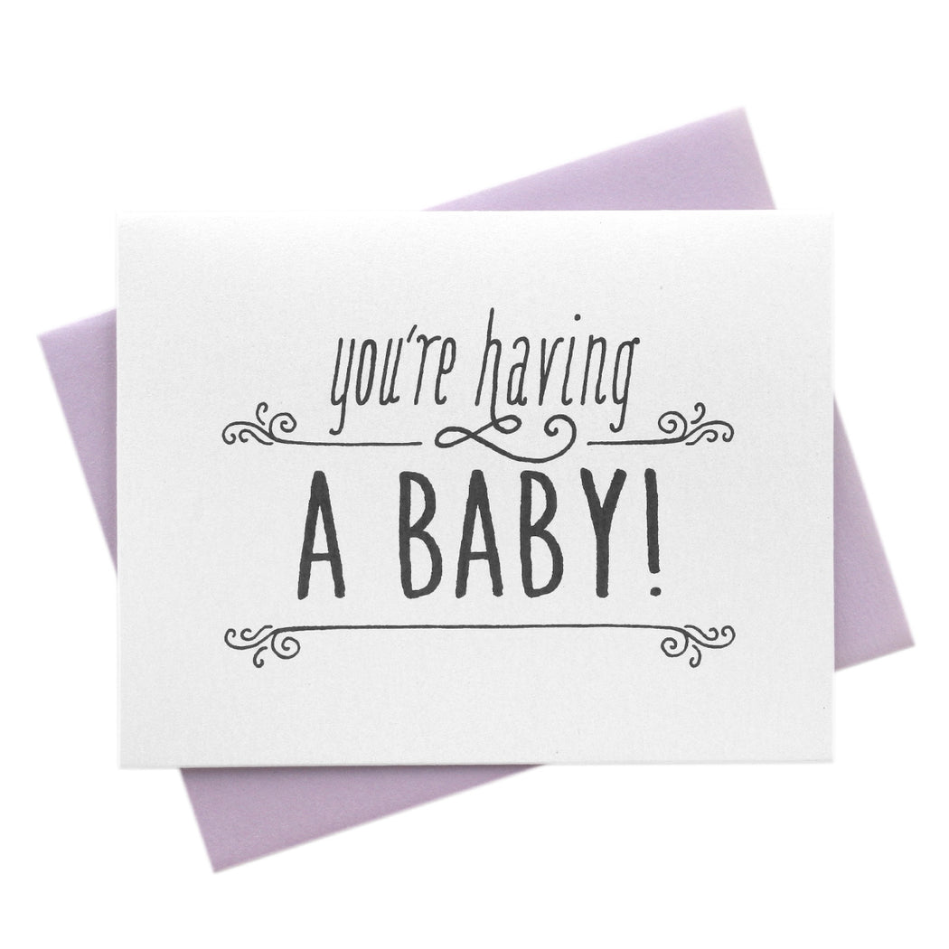 You're Having a Baby, Congratulations Card