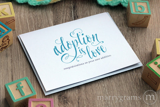 Adoption is Love, Congratulations Card New Baby New Parents