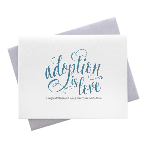 Adoption is Love New Baby New Parents Congratulations Card