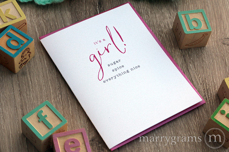 It's a Girl! Congratulations New Baby Card
