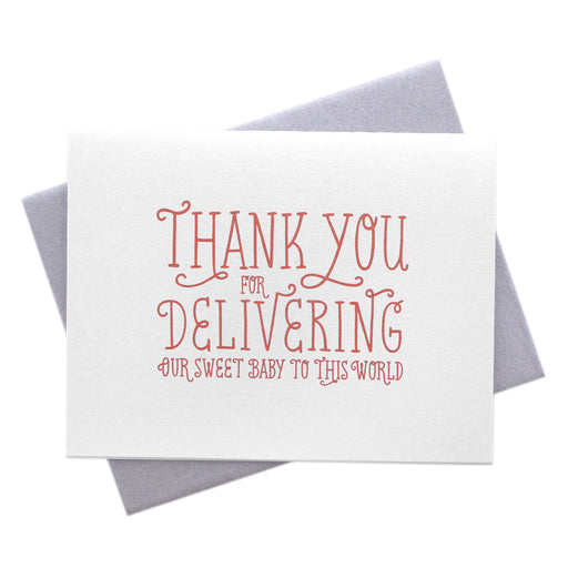 Thank You for Delivering Our Baby Card