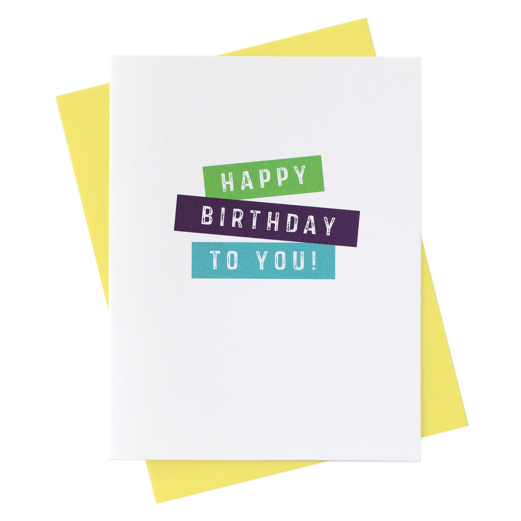 Happy Birthday to You! Labels