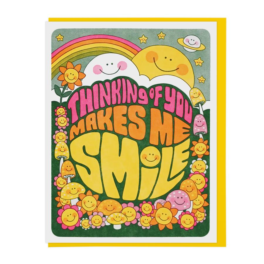 Thinking Of You Makes Me Smile Card