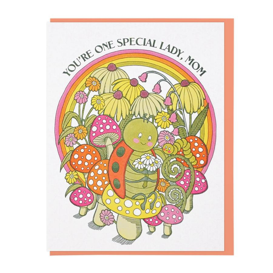 One Special Lady Bug Mom Card